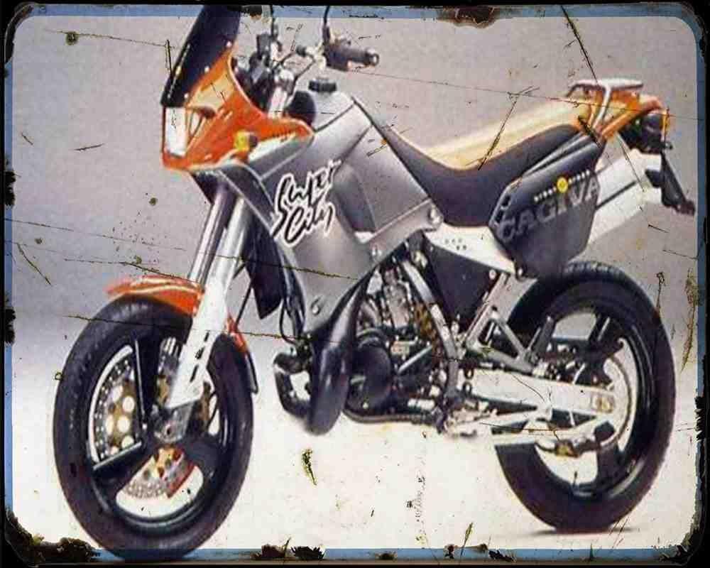 Red Rat Cagiva 125 Super City 1 A4 Metallschild Motorrad Vintage Aged