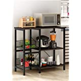 SGLI Microwave Floor Kitchen Rack, Multi-layer Kitchen Storage Shelf, Metal Kitchen Table (Color : A)