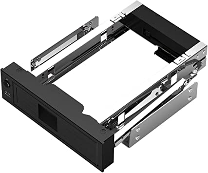 """Hard Drive Enclosure 5.25/"""" Trayless Mobile Rack Bracket for 3.5Inch Sata HDD"""