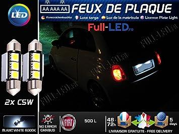 Pack Bombillas LED iluminación placa para Fiat 500L: Amazon.es: Coche y moto