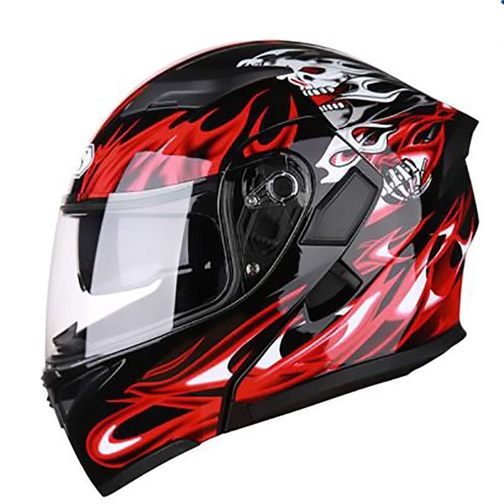 HYH ブラックレッドマジック大人自転車ヘルメット乗馬電気自動車オートバイヘルメット自転車マウンテンバイクヘルメット屋外乗馬機器 いい人生 (Size : M) Medium  B07SD4KX4F