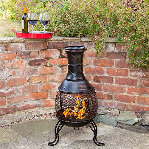 Kingfisher Outdoor Chiminea BBQ Heater