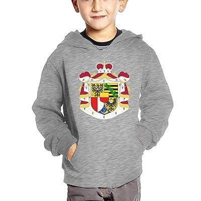 Liechtenstein National Emblem Hoodies For Kids Hooded Sweatshirt Boys Sweater Girls Pullover