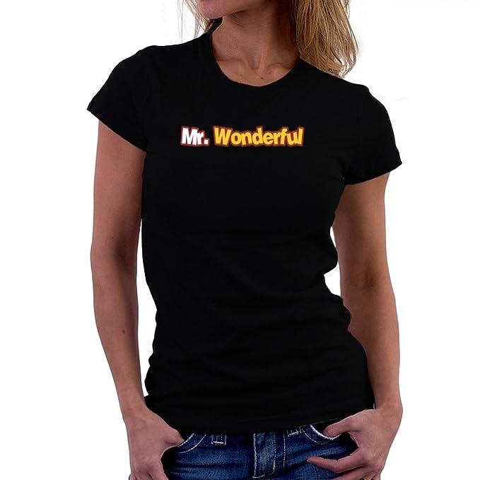 Mr Camiseta Teeburon Wonderful Mujer Teeburon Camiseta Mr Wonderful RaxwnqP