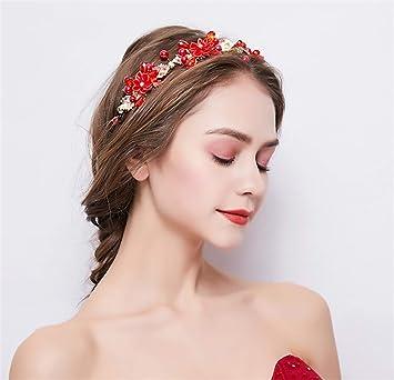 Accessoire De Cheveux De Mariée, Europe Et Amérique Haute Qualité Main  Alliage Rouge Bande De