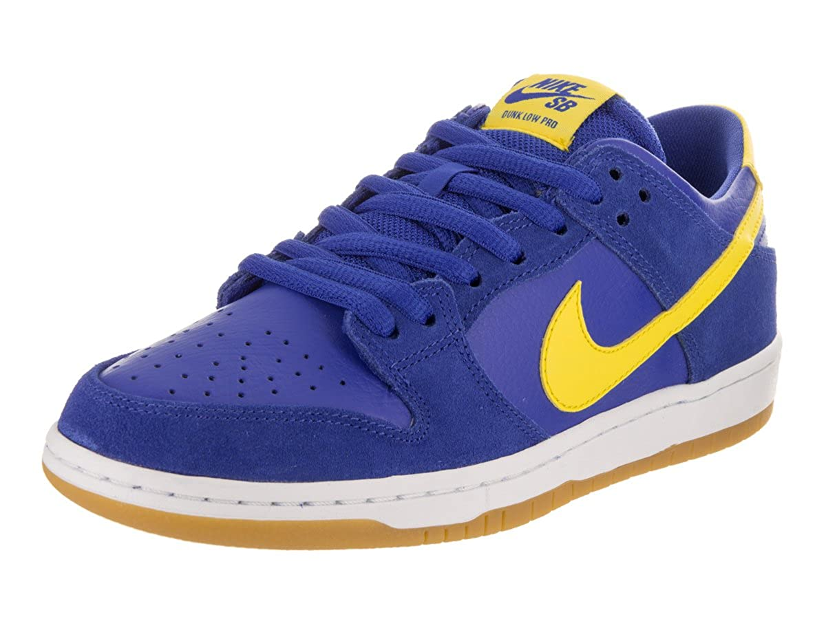 best service b9c54 faa2d Amazon.com | Nike Men's SB Zoom Dunk Low Pro, Varsity  Royal/Lightening-White | Basketball