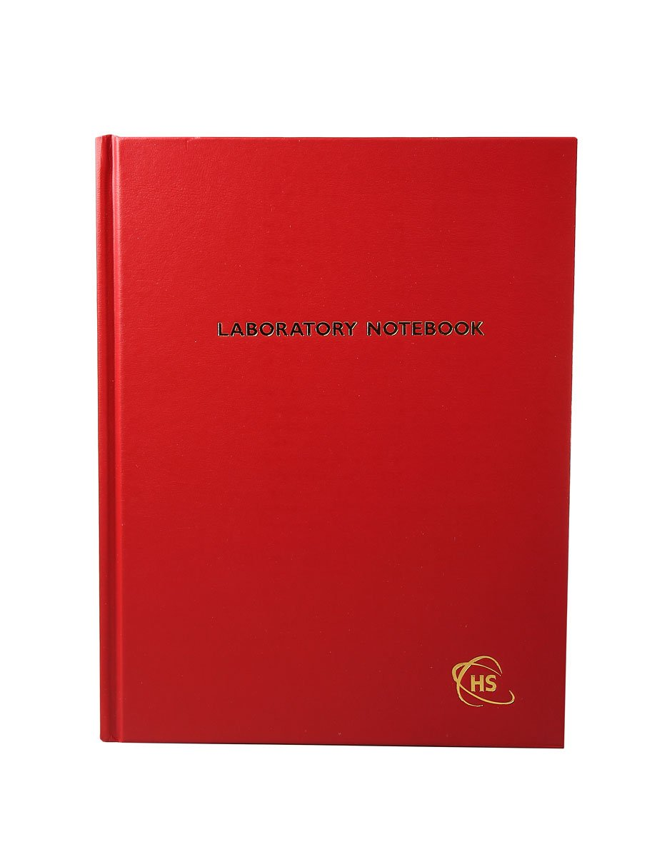 Heathrow Scientific HS8610D Laboratory Notebook, 200-Pages, Lined, Red (Pack of 12), Gallons, Degree C, Cardboard,, ( 2)