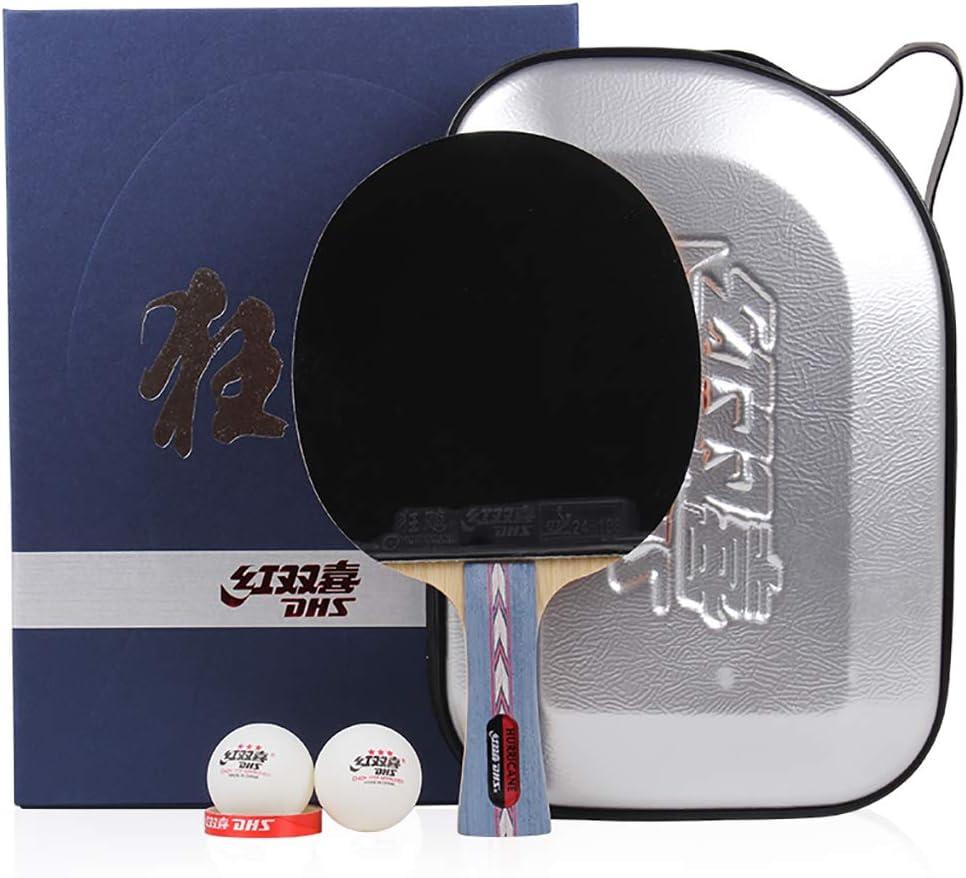 DHS Professional Ping Pong Paddle, Tabla FormacióN Avanzada Raqueta De Tenis,  para Torneos, para Intermedio Y Avanzado -con Estuche
