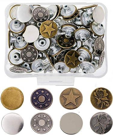 Rivets fastener stud boutons à coudre cuir denim jeans de remplacement 17 mm s uk