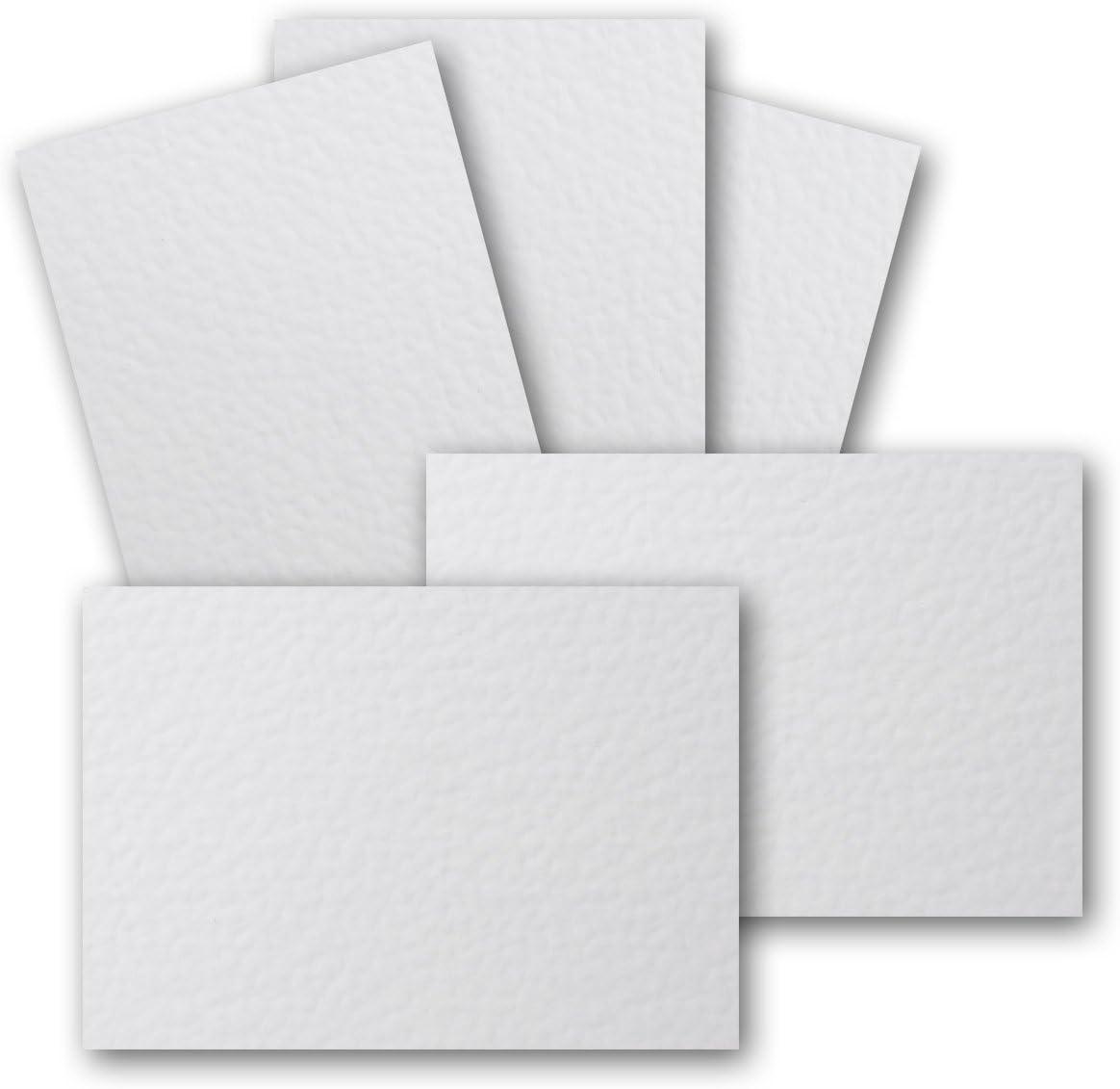 50 St/ück DIN A6 Karton geh/ämmerte Struktur Ideal zum Basteln Gru/ßkarte Farbe: Weiss 105 x 148 mm Gustav NEUSER Einzelkarte ohne Falz Scrapbooking 250 g//m/²