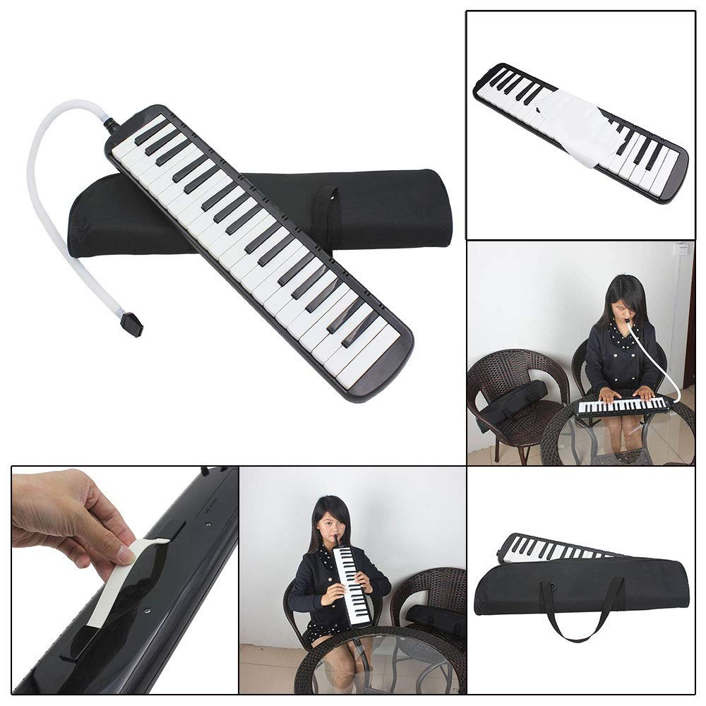 Melodica Musical Instrument 37 Keys Piano Style Melodica Full Sets With Carrying Bag Straps Double 2 Mouthpieces Tube Educational Portable Musical InstrumentGift Toys For Kids Music Lovers Beginners f by Shirleyle-MU (Image #3)