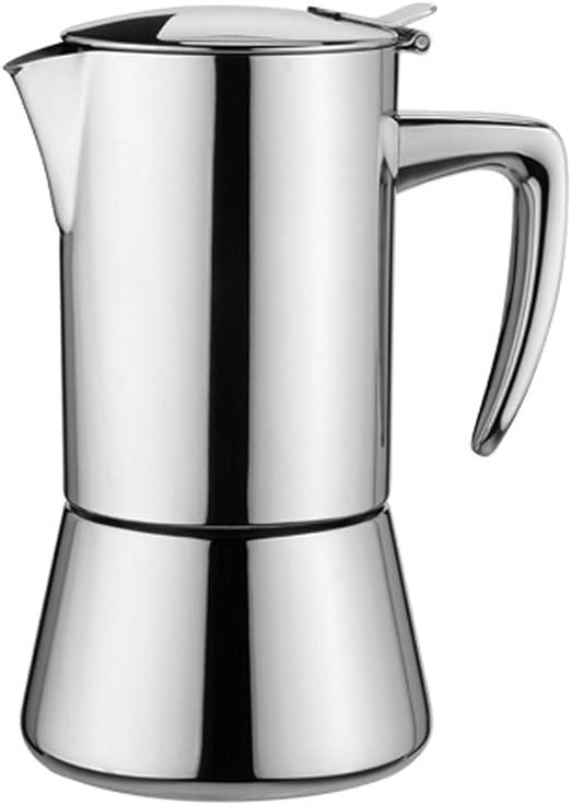Kaufgut 121901 Miss Diamond - Cafetera de acero inoxidable para 2 tazas: Amazon.es: Hogar