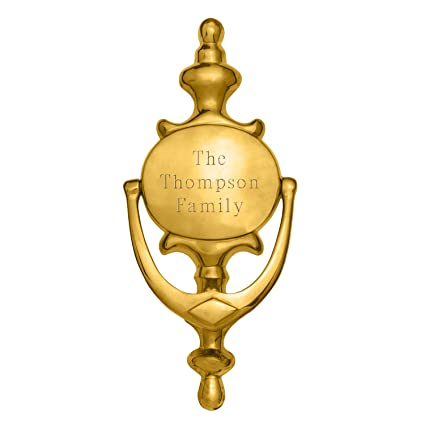 Personalized Brass Door Knocker   Door Decor   Engraved Door Knocker    Brass Door Knocker