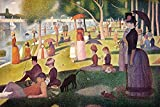 "This 9"" x 14"" canvas art print of Sunday Afternoon On The Island Of La Grande Jatte by Georges Seurat is created on the finest quality artist-grade canvas, utilizing premier fade-resistant archival inks that ensure vibrant lasting colors for years to..."