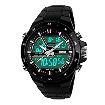 Image Unavailable. Image not available for. Color  Relojes de Hombre Sport  LED Digital Military Water Resistant Watch Reloj Men ... eeee6a36f823