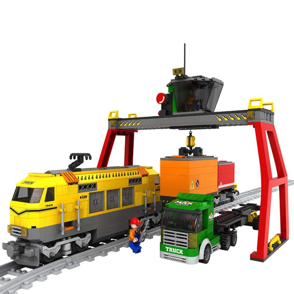 Hbwz Train Building Blocks Puzzle Science 792PCS Giocattoli per Bambini assemblati in plastica Adatti a Bambini di età Superiore a 6 Anni