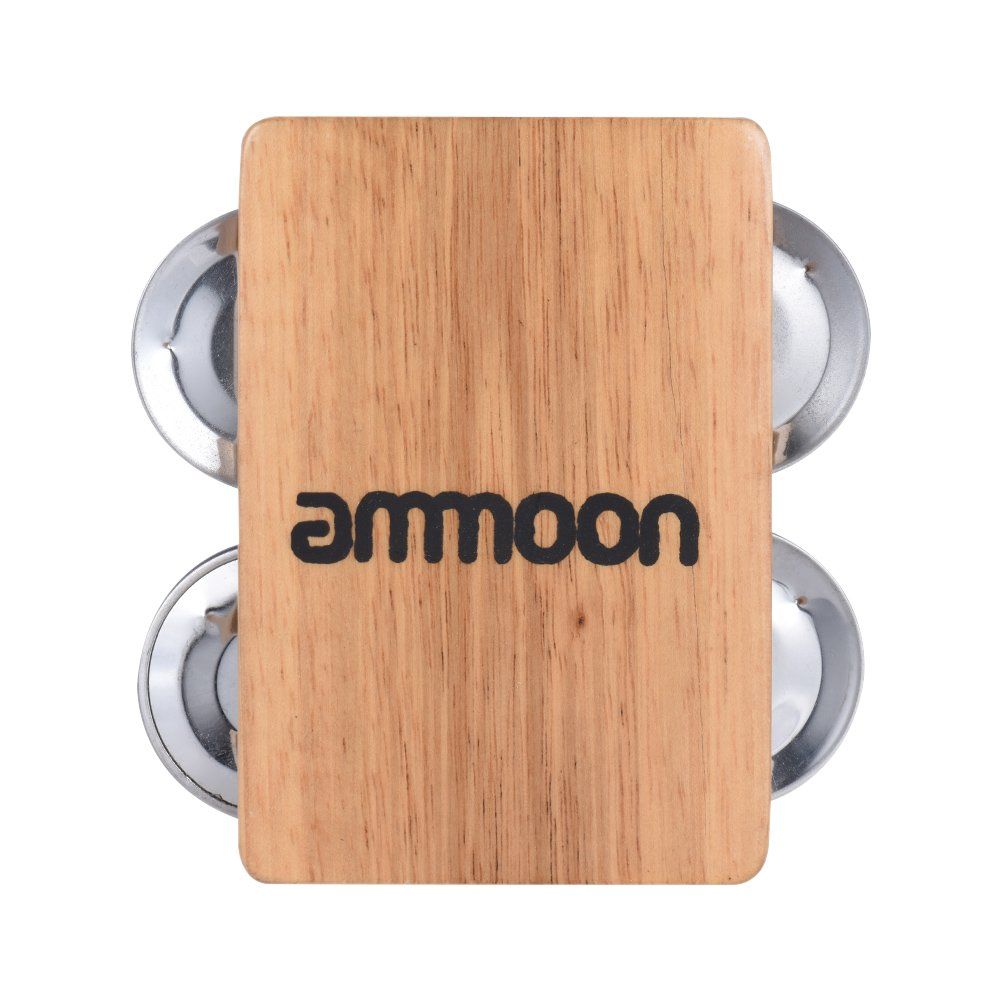 Hand Percussion Instruments Cajon Box Drum Companion Accessory with 4-bell Jingle Festnight ammoon Castanets
