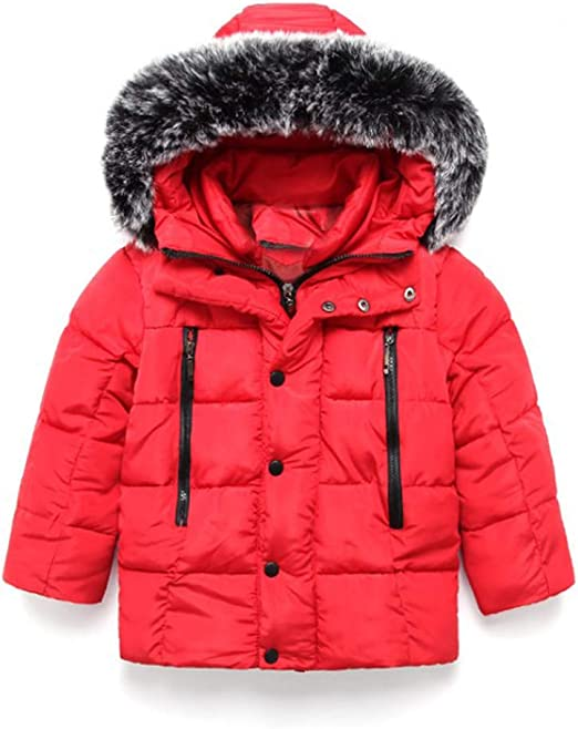 Winter Baby Kids Girls Boys Warm Hooded Outerwear Jacket Children Snowsuit Coat