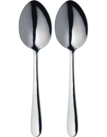 Master Class Kitchen Craft Juego de 2 cucharas para servir (acero inoxidable)