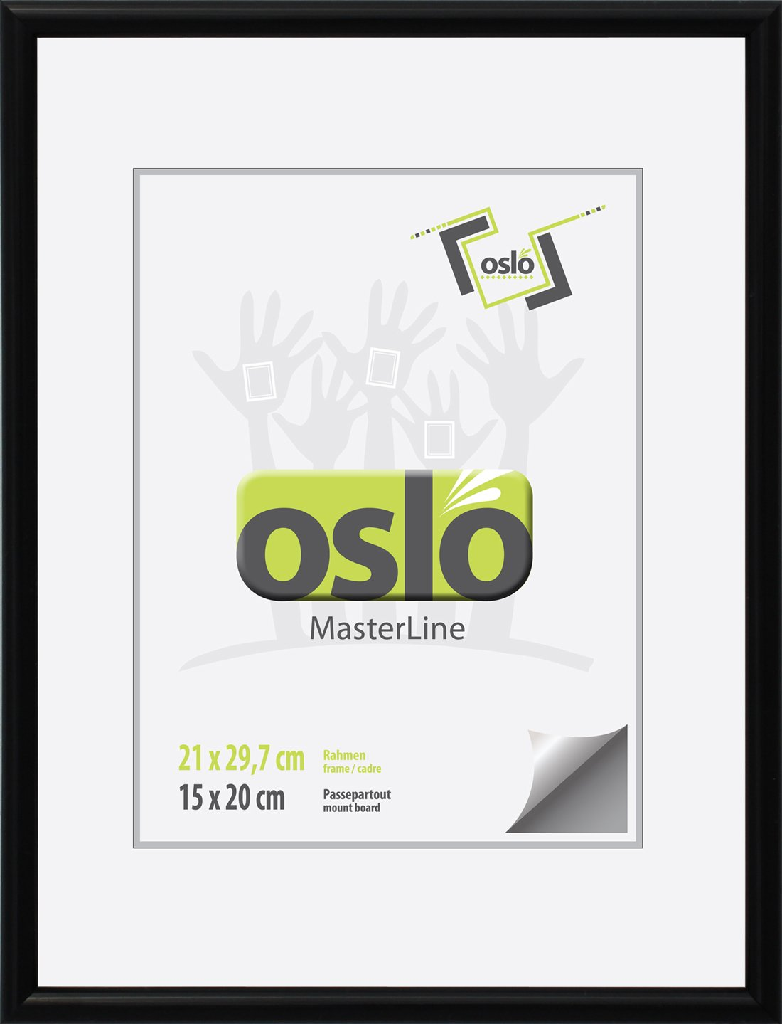 Amazon.de: OSLO MasterLine Bilderrahmen Din A4 21x30 schwarz Holz ...