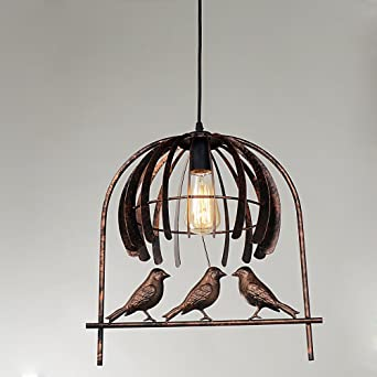 Vintage ceiling pendant light industrial edison wrought iron bird vintage ceiling pendant light industrial edison wrought iron bird cage chandelier fcc certified antique rustic style aloadofball Gallery