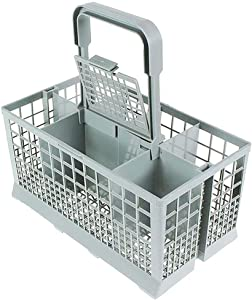 Dishwasher Basket for Bottle Dishwasher Utensil Cutlery Basket Fit for Kenmore, Whirlpool, Bosch, Maytag, KitchenAid, Maytag, Samsung, GE 9.45x 5.5x 4.7 Inch (Basket)