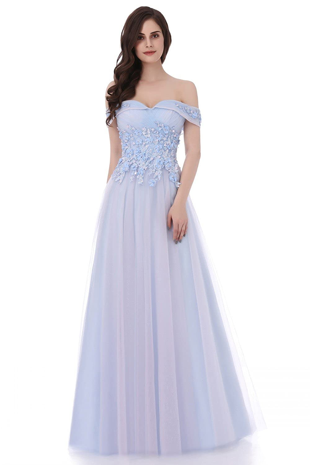 Annie's Bridal Long Floral Wedding Party Evening Prom Dress for Bride Plus Size 2017