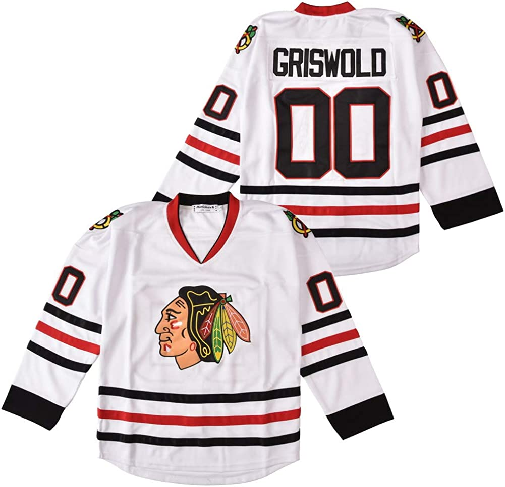 #00 Clark Griswold X-Mas Christmas Vacation Mens Movie Hockey Jersey White Stitched