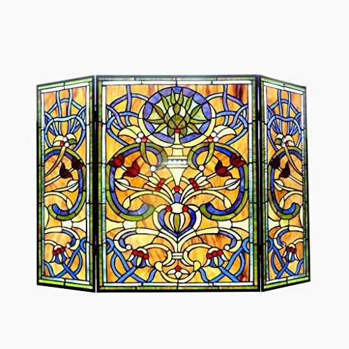 - Chloe Lighting Tiffany-Glass Victorian 3pcs Folding 40