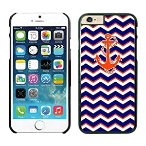 Iphone 6 Plus Case 5.5 Inches, Chevron Pattern Blue With Anchor Wave Black Phone Protective Cover Case Mate for Apple Iphone 6 Plus