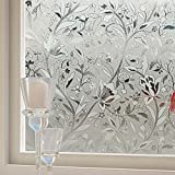 HOHO 19.7-Inch-by-36.2-Inch No Adhesive Static Cling Privacy Glass Window Film, Style04