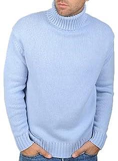 Balldiri 100% Cashmere Kaschmir Herren Rollkragen Pullover 10-fädig  himmelblau S 4f0828b8a1