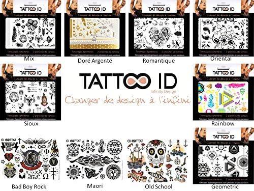 TATTOO ID OLD SCHOOL VINTAGE. Tatuajes efímeros temporales ...
