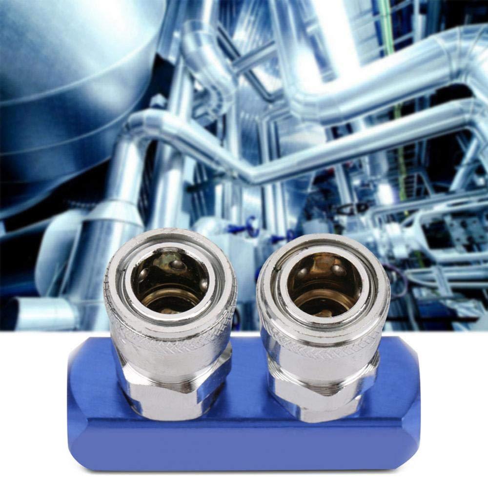 Akozon Pneumatico Raccordo Rapido 12mm Connettore Femmina per Tubo dellaria Pneumatico Collegamento PT1 2 Vie Raccordi Rapidi Pneumatici 4