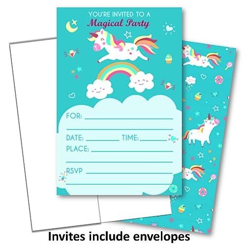 Amazon Com Unicorn Invitations For Birthday Party Unicorn