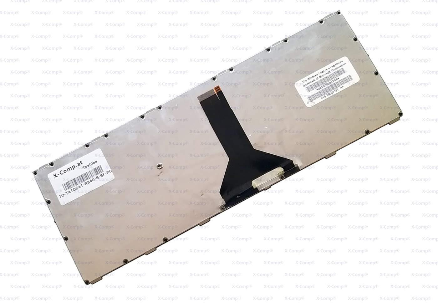 Toshiba Tecra R840 y R940 Color Negro R845 R945 Teclado para Toshiba Satellite R840 X-Comp