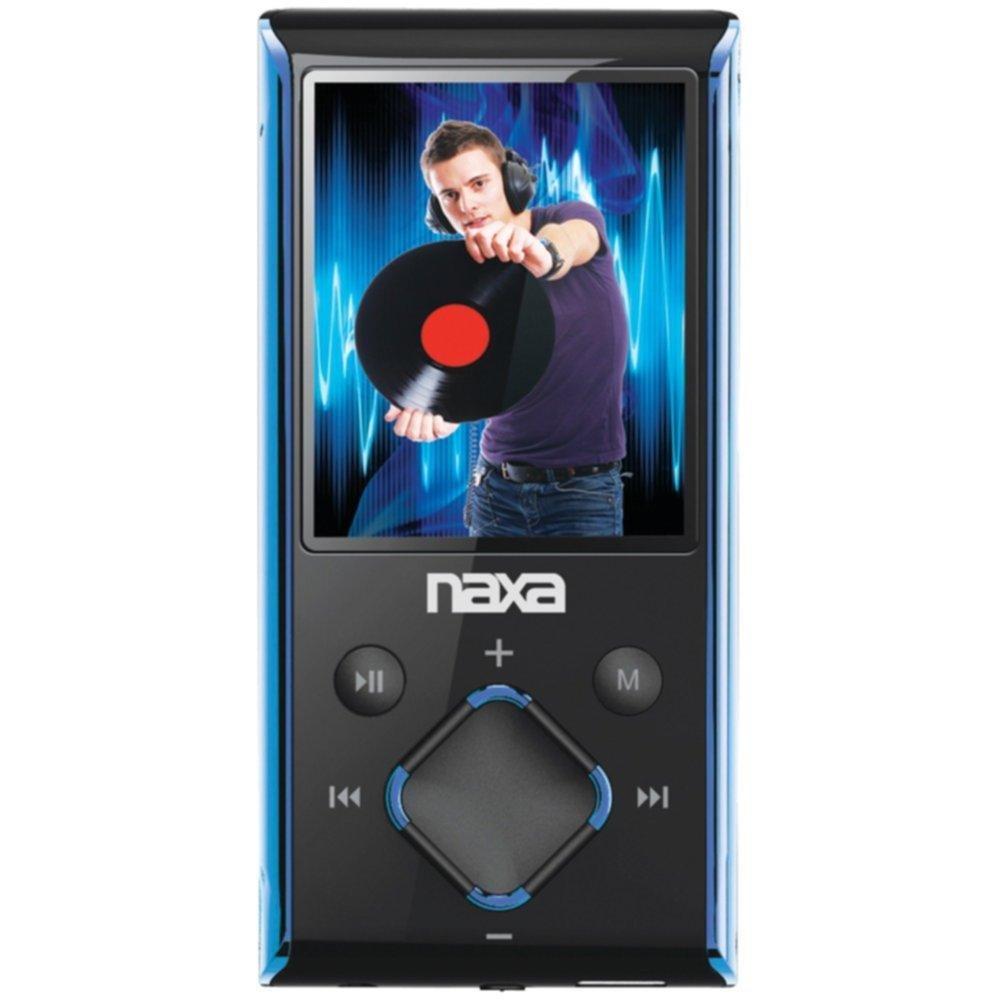 NAXA NMV173NBL 4GB 1.8 LCD Portable Media Players (Blue) consumer electronics Electronics
