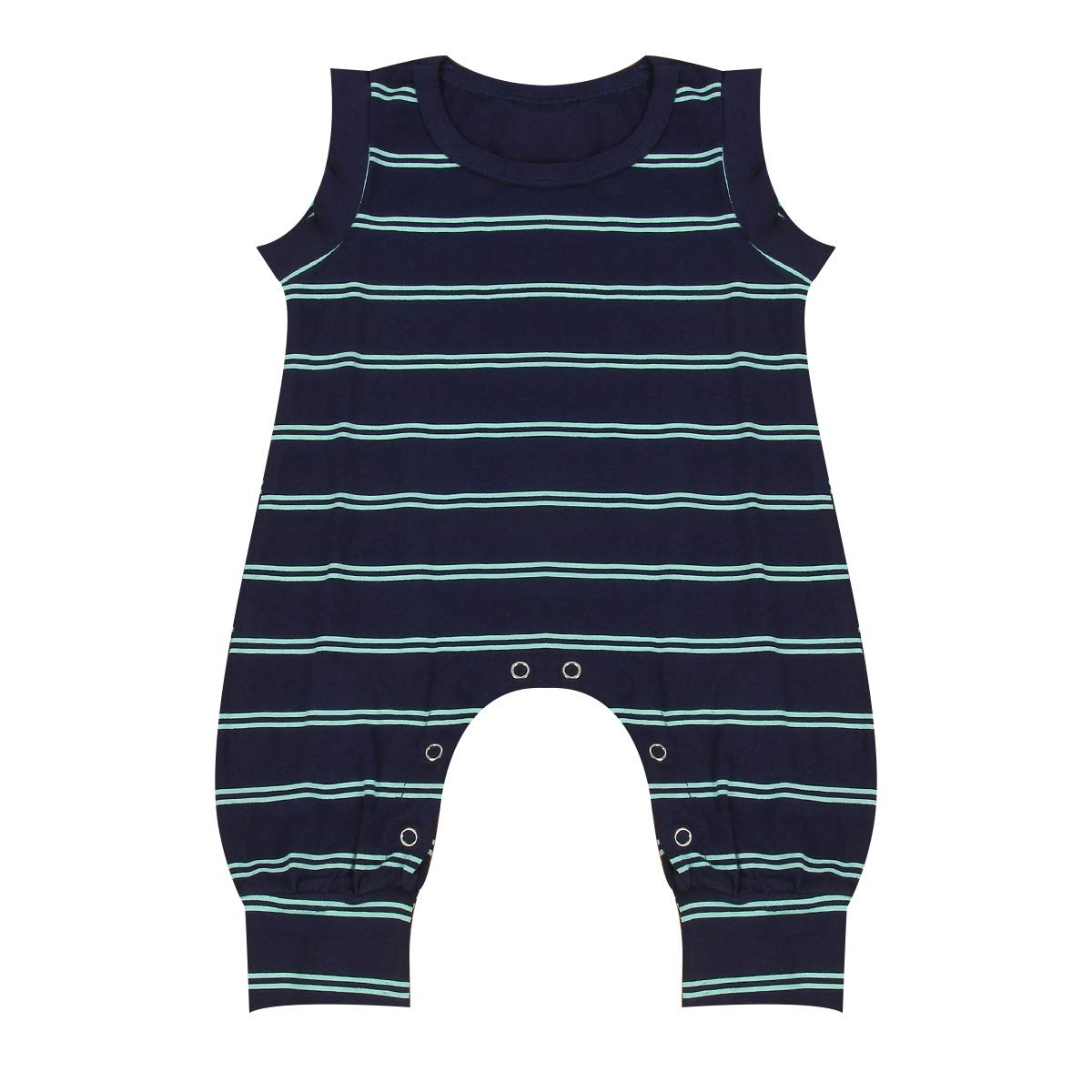 Stripe Sleeveless Romper Outfit Clothes Suit for Infant Toddler Baby Kid Boy (Color : 80) Tabpole