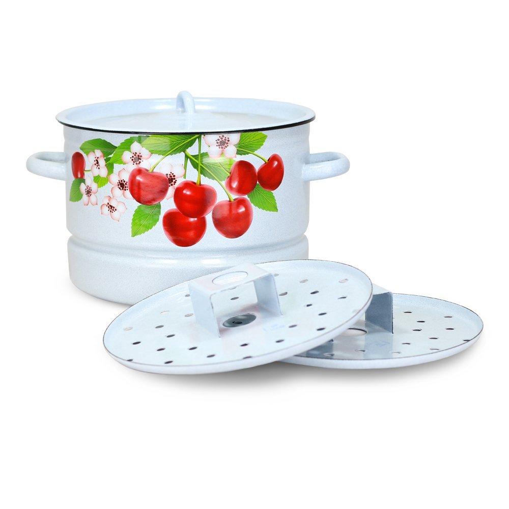 Mantykocher Dampfkocher - Kirschblüten, emailliert, 2xAuflagen, 7 Liter Posylka.de