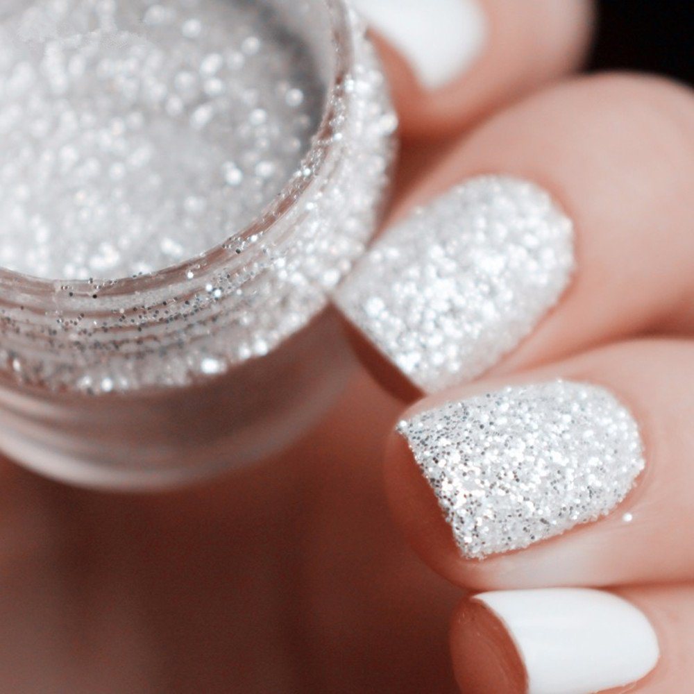 Amazon.com: Spirit Clear Sequins Dust DIY Nail Art Glitter Gem Nail ...
