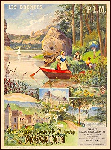 MAGNET Les Brenets Schweiz Suisse Switzerland Vintage Travel Advertisement Magnet Print