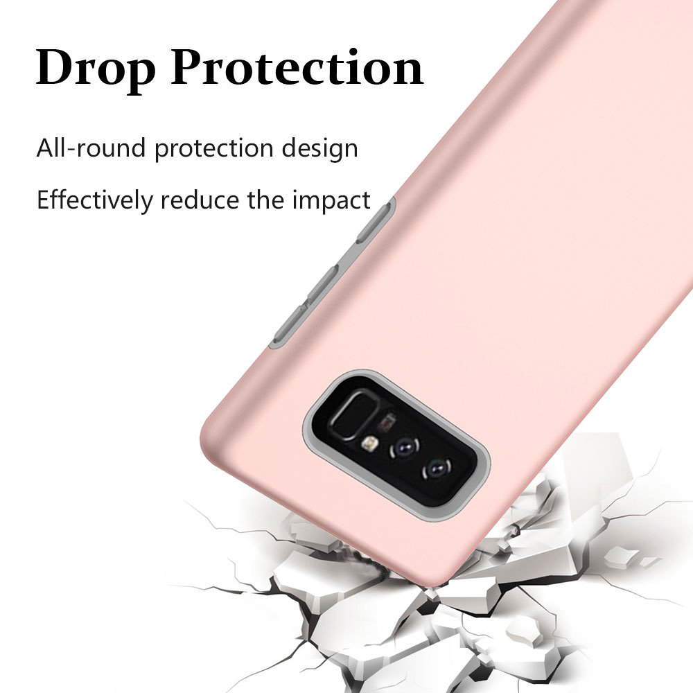 Note 8 Case, Galaxy Note 8 Case, MagicSky Slim Corner Protection Shock Absorption Hybrid Dual Layer Armor Defender Protective Case Cover for Samsung Galaxy Note 8 (Rose Gold)