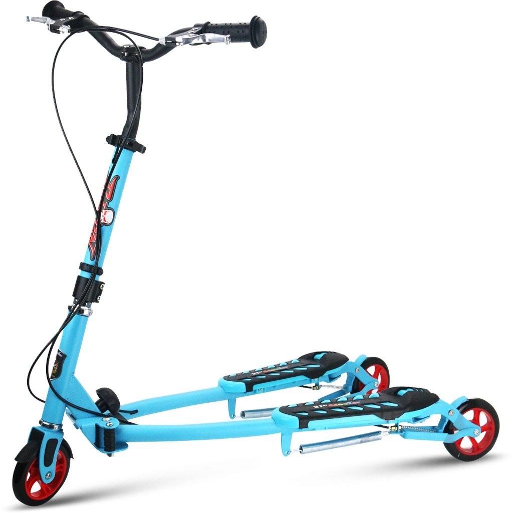 YONGLIANG スクーターハサミスクーター4歳6歳のおじいちゃんカエル3輪4輪スイングカー : (色 青 : 青) B07BPVC61W (色 青, センボクマチ:23ae577e --- integralved.hu