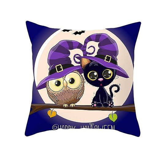 Funda de Almohada de Halloween Funda de cojín de patrón de ...