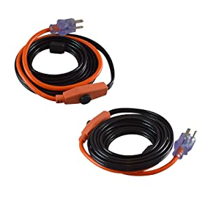 GardenHOME Pipe and Valve Heating Cable (2X9Feet) Heat cables