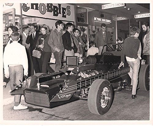 Vintage Photograph of Vox Mobile In Front of Strip Mall by George Barris Original 35 + years - Mall Old Pictures
