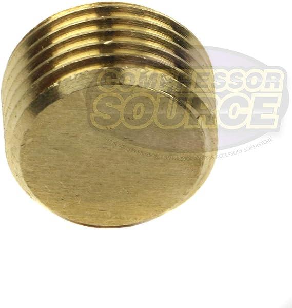 50136 1//2 Brass Male NPT Counter Sunk Head Plug Interal Hex Socket RapidAir