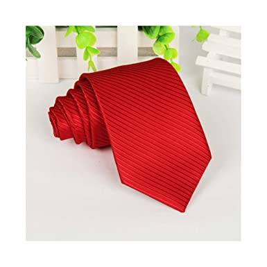 20 corbatas de poliéster estilo corbata para hombre Sólido negro 8 ...