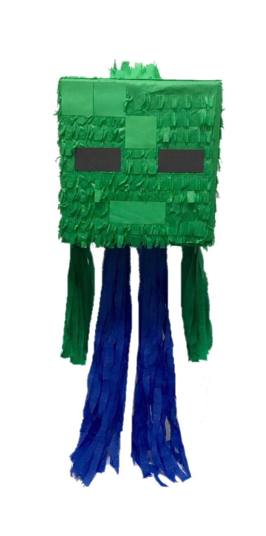 APINATA4U Green Mining Boy Cube Head Pinata Video Game PartyFavor