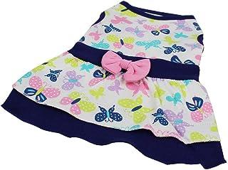 Lomsarsh Robe d'été pour Petit Chien Robe imprimée pour Chien Chien Chat Jupe d'extérieur pour Chien d'été Mignon